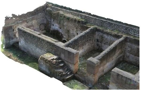 modellazione 3d drone radiocomandato sito archeologico