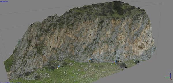 modello 3D ricavato da esplorazione con drone